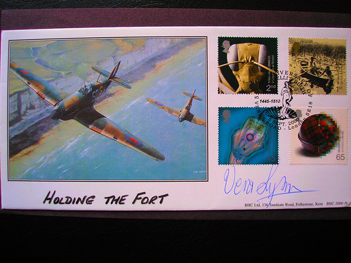 Dame Vera Lynn's Autograph On A Royal Mail First Day Cover.