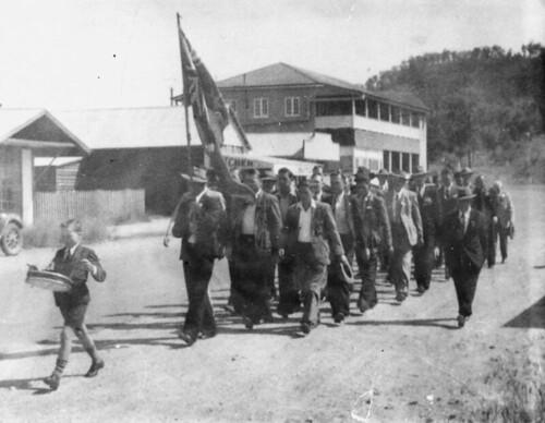 Anzac Parade at Cracow, Queensland, 1949
