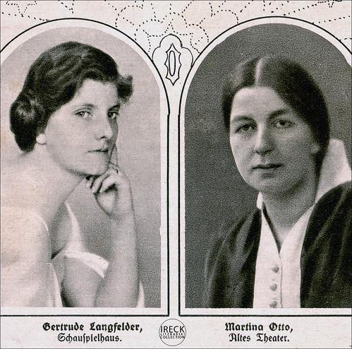 Gertrude Langfelder - Schauspielhaus, Martina Otto - Altes Theater in Leipzig 1919
