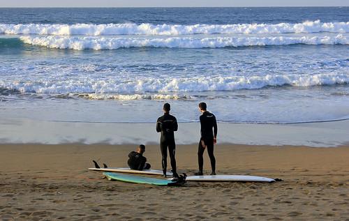 GIJÓN / Surfistas, Playa de San Lorenzo (19/03/2014)