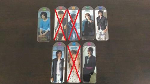NEWS BOOK MARK - RM8 each ...yg dah kene beli , yamapi , uchi n tegoshi yuya. nanti edit letak gambar pangkah.