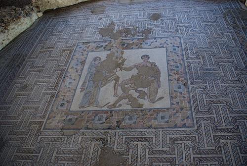 Mosaico Aquiles y Briseida