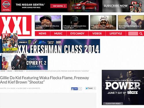 "Gillie Da Kid Featuring Waka Flocka Flame, Freeway And Kief Brown ""Shootaz"""