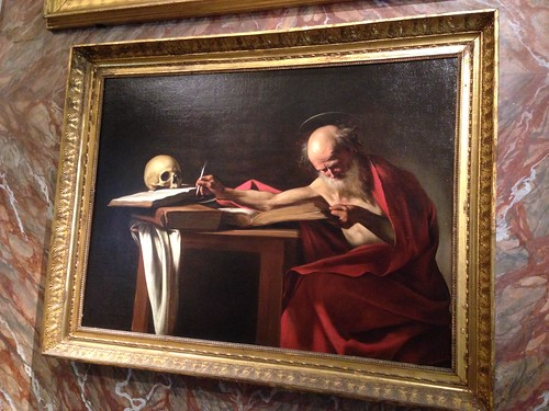 Saint Jerome Writing (Caravaggio) Borghese Gallery, Rome