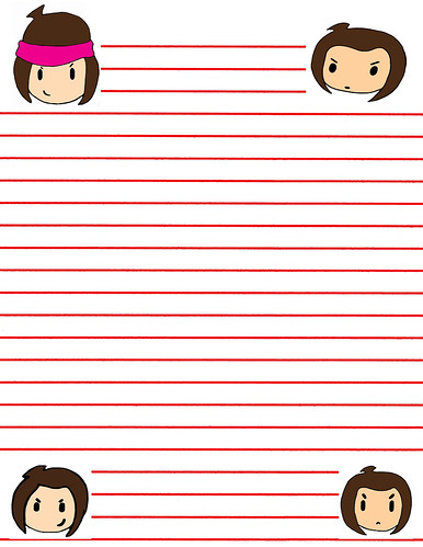 B-Pop Cartoon SPWK Bad Girl Pee Wee Paper Comic Super Pop Pee Heads Memo Text College Loose Leaf Note Boot Paper Art College Course Poster 101 Anime Draw Pencil Girl Crayon Paint Manga