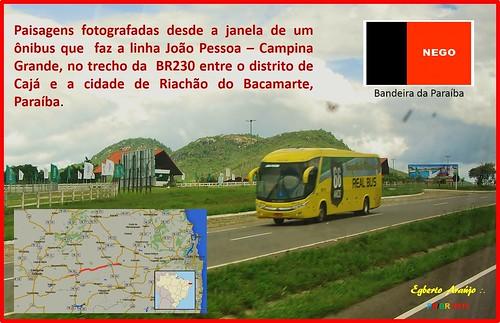 Paisagens entre Cajá e Riachão do Bacamarte, PB