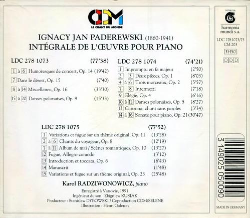 Paderewski - Piano Works - Karol Radziwonowicz_2