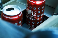 CHERRY BAWLS?? (Melissa Alicia) Tags: red car cherry bawls trips cans cupholders