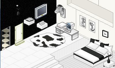 Black and White Room by xSalonix.