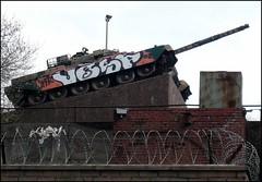 Urban Camoflage (Cul 9) Tags: graffiti tank tagged scrapyard picnik shepherdsscrapmetals