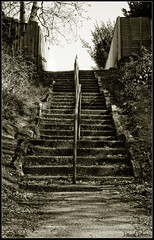 Decaying Stairwell (Daniel Hodson) Tags: uk dan sepia stairs canon 350d 50mm flickr unitedkingdom path daniel aib route peter dorset canon350d canoneos350d bournemouth freelance greyscale hodson visualcommunication hoddo artsinstitutebournemouth danielpeterhodson danielhodson theartsinstitutebournemouth dhodson wwwdanielhodsoncouk httpwwwdanielhodsoncouk