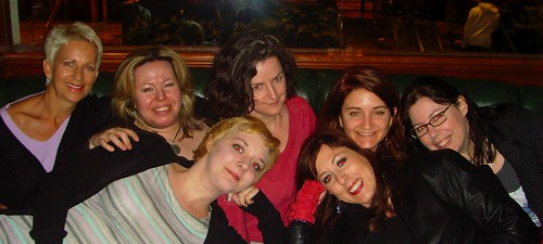 Roxanne Darling, Jane Quigley, Kristen Crusius, Laura Fitton, Christine Cavalier, Kathryn Jones & Annie Boccio @ PodCampNYC - April 26, 2008