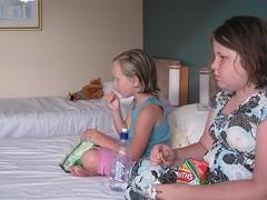 snacks & TV in bed