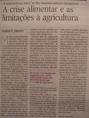 «A crise alimentar e as limitações à agricultura»