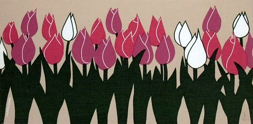 Marushka - pink and white tulips