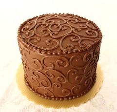 Champagne Truffle Torte (artofdessert) Tags: birthday art cake dessert sandiego chocolate champagne truffle scroll chocolatecake rianne thebiggestgroup artofdessert champagnetruffletorte champagnetrufflecake