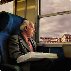 Memories troughout a train window... An inner self journey (Osvaldo_Zoom) Tags: portrait window train time memories aged passing littlestories colorphotoaward picswithsoul mastersoflifegallery