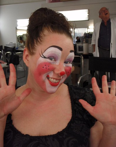 clown faces makeup. auguste clown face
