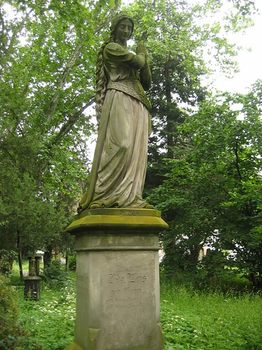 Statue in Freiburg cemetery