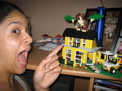 day176: monkey attack (Kitzzy) Tags: people usa home june set portraits canon orlando all lego florida selfportraits 2008 singles challenges blogthis week24 365days sd600 kitzzy facebook:user=5115215 flickr:user=kitzzy
