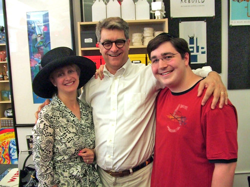 Brandy Tuchman, Fred Seibert and Avi Tuchman
