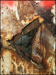 rusty triangle (sulamith.sallmann) Tags: abstract berlin texture trash deutschland triangle rust decay rusty surface rost surfaces decayed rostig abstrakt xyz oberflchen dreieck oberflche textur blueribbonwinner verrosted sulamithsallmann abgenutzt de0