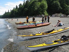Kayaks on the beach (Fort Nisqually, Washington, United States) Photo