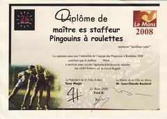 Pingouins à Roulettes diplôme staff