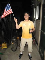 Hojin the Flag-bearer (jrkester) Tags: japan hirosaki 4thofjuly 2008