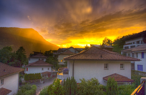 HDR Sunset after storm
