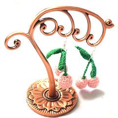pinkcherryearrings (Mommysaurus) Tags: cute jewelry cherryearrings