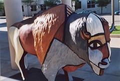 Abstract Buffalo (aimeedars) Tags: aimeedars summer 2004 buffalo spiritofthebuffalo oklahoma ok publicart paintedbuffalo paintedsculpture painted statue