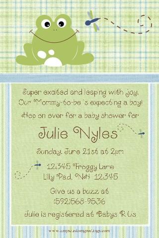 Baú de idéias: Modelos de convites - Chá de bebê (ou chá de fralda) I