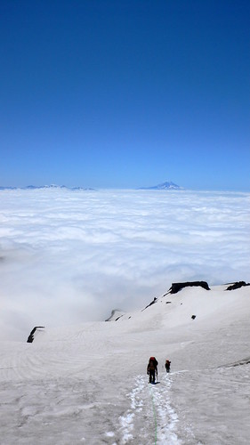 Ascending above the clouds