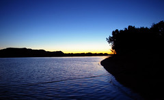 Lake Pepin at rest (The Jer) Tags: blue camping sunset lake water houseboat wabasha lakepepin mywinners