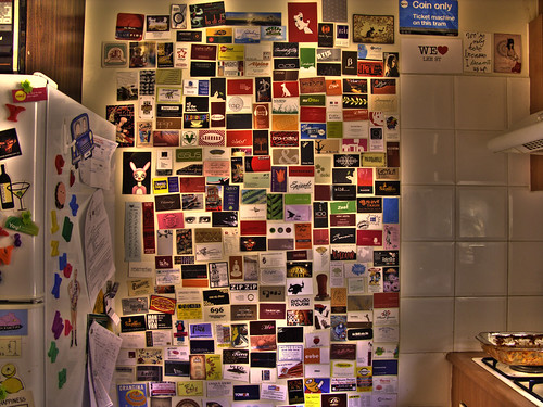 my business card wall