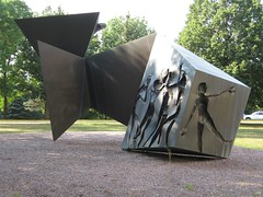 "<p>Title: ""Creation, Community, Crucifixion, Resurrection""<br/>Sculptor: Paul Granlund<br/><br/>Accessible to Public: yes, outdoors<br/>Location: Dittman Center<br/>Ownership: St. Olaf College<br/>Medium: Bronze<br/>Dimension: 27 feet long by 9 feet wide by 12 feet high<br/>Provenance: St. Peter, Minnesota<br/>Year of Installation: 1982<br/>Physical Condition: Good</p>"