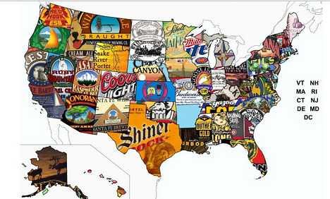 american beer map