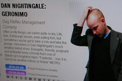 Dan Nightingale Geronimo programme extract from Festival Fringe 2008