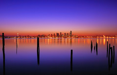 alki beach (donjiva(away)) Tags: seattle longexposure skyline night sunrise washington twilight nikon explore alkibeach frontpage 1870mm d40 d40x