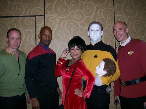 Data Uhura Kirk Sisko Picard