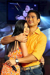 Angel Locsin and Piolo Pascual in Wowowee (Team Angel Tayo) Tags: pictures boy cinema gelo angel star photo gallery under down collections land kris lobo pictorial pascual asap piolo wowowee locsin