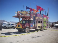 Burning Man 2008 166 (xamichee) Tags: burningman blackrockcity kazbus burningman2008 blackrockcitycommunitycenter
