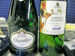 679_機内のワイン