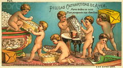 AAED004092 (search2971) Tags: old people baby cute angel nude children holding toddler antique bare text group working advertisement card drug cherub prints medicine healthcare pill carrying tradecard commercialartandgraphicdesign designarts spanishtext colorprints wingedchild wingedhuman victorianperiodorstyle pilulascatharticasdeayertradecard