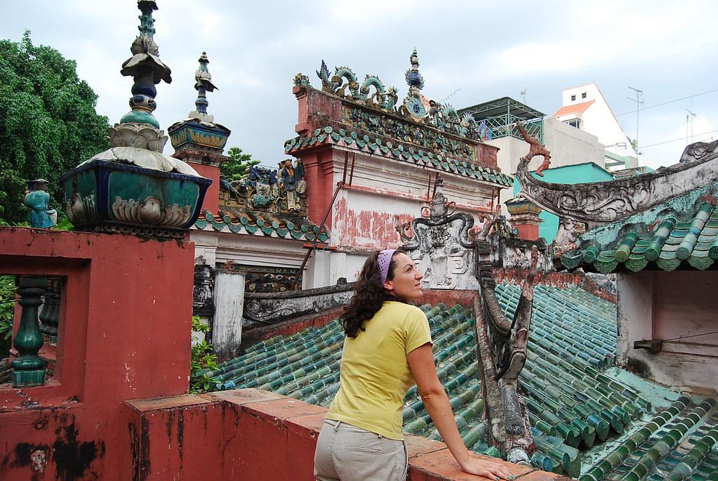Vero en la Pagoda del Emperador de Jade