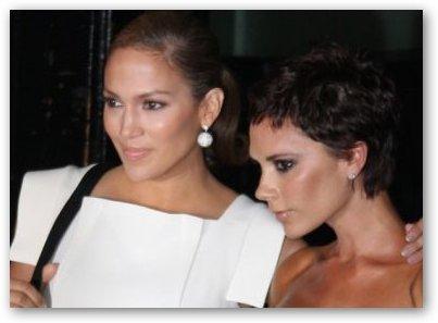 Victoria Beckham's with J-Lo
