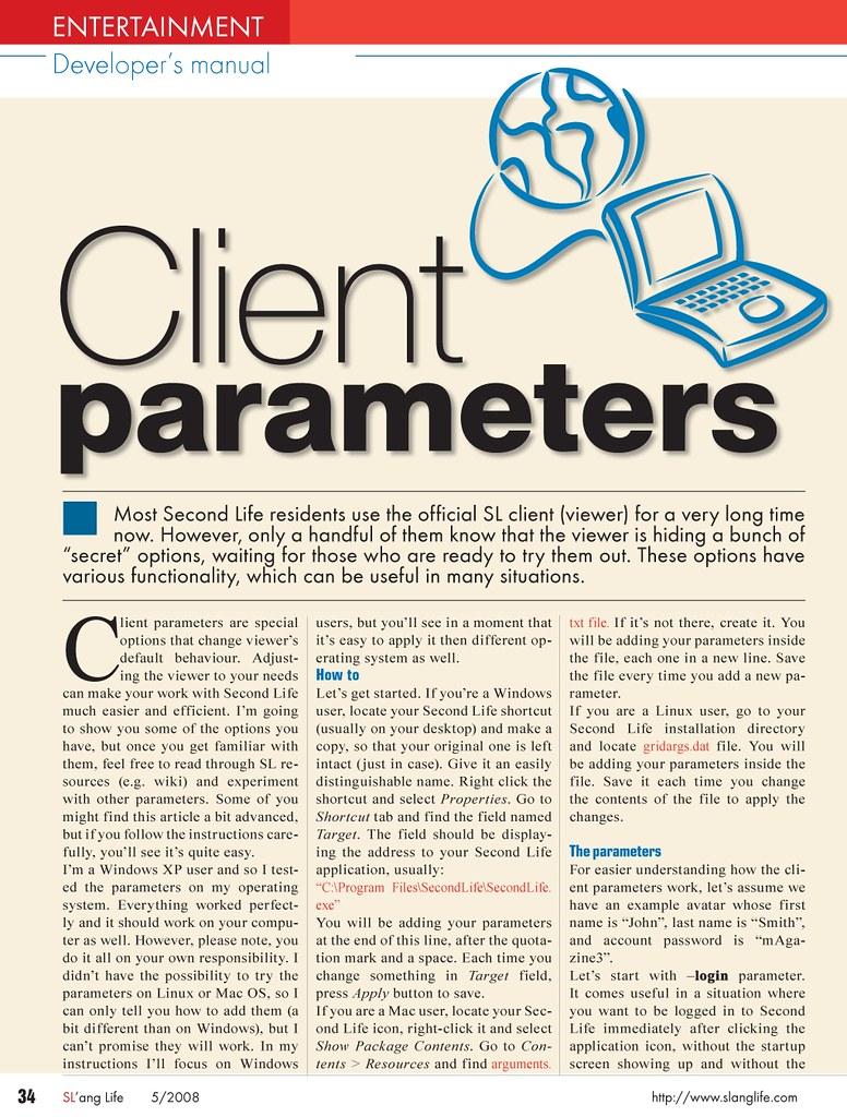 Client parameters 01