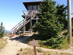 Arriving at Shriner Peak Lookout.