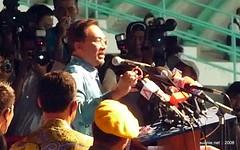 Pakatan Rakyat Sept 15 Rally - Anwar on stage
